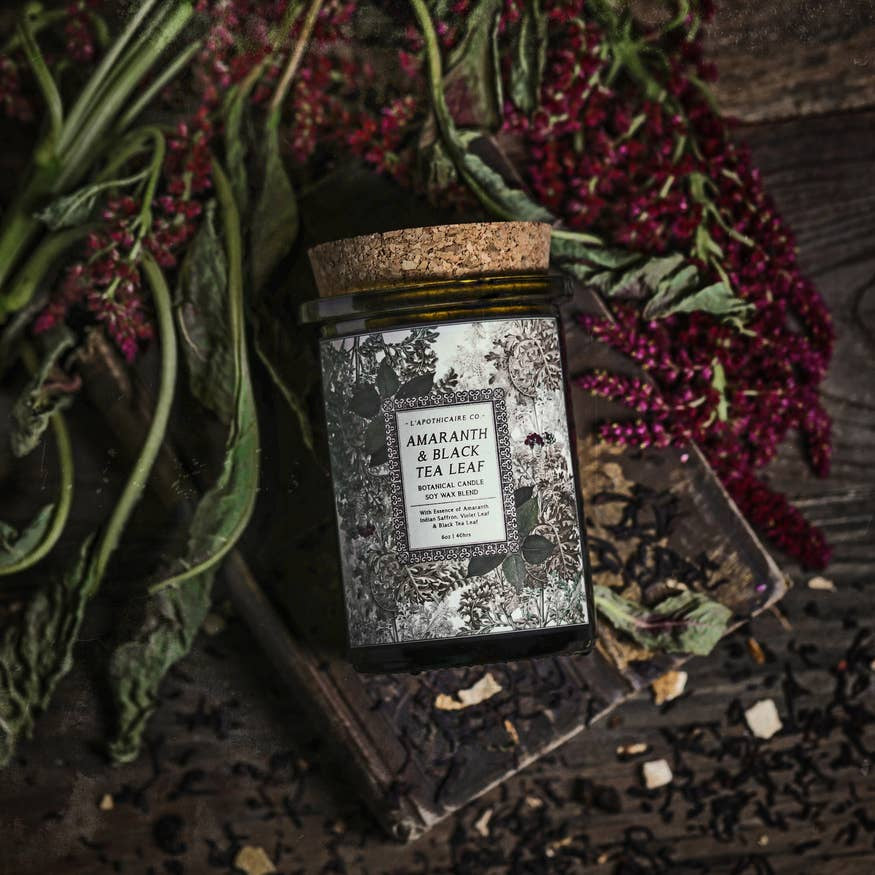 BOTANICA: Amaranth + Black Tea Leaf Candle
