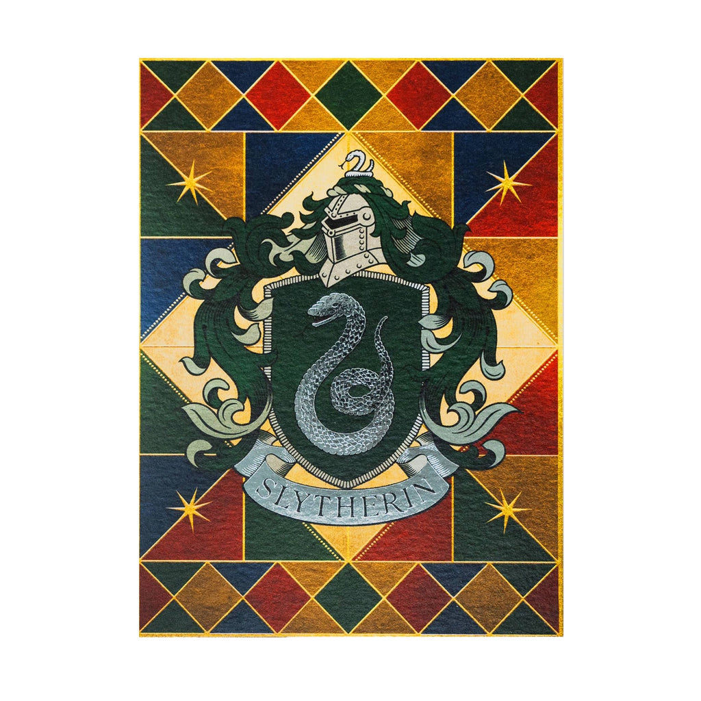Slytherin Crest Foiled Notecard