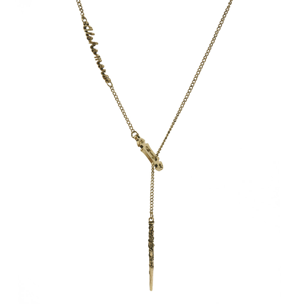 Alohomora Lariat Necklace