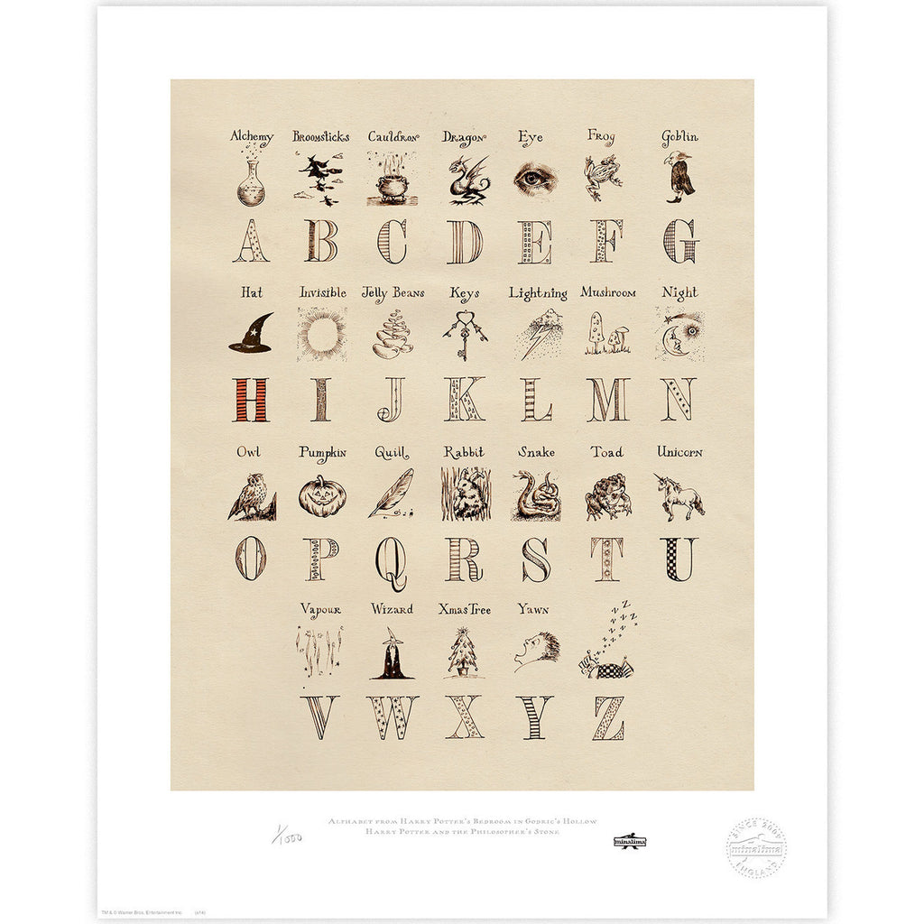 Alphabet from Harry Potter's Bedroom