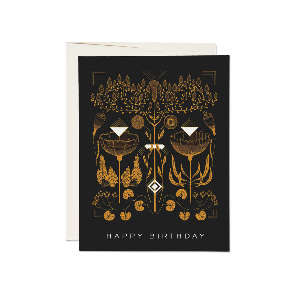 Amber Gold - Happy Birthday Card
