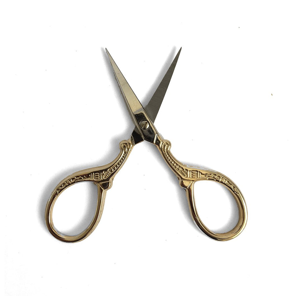 Antique Style Scissors - Baroque Gold