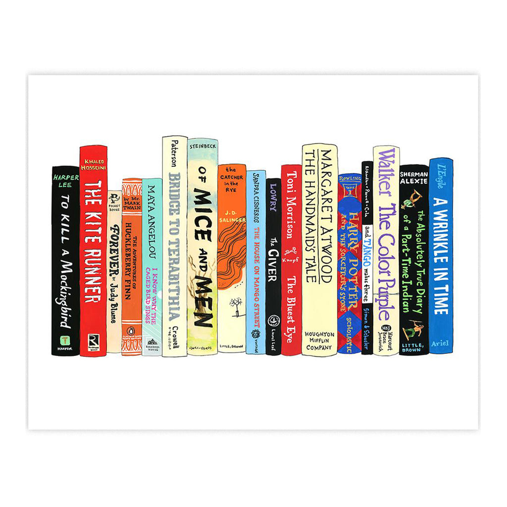 Ideal Bookshelf Art Print - Banned Books