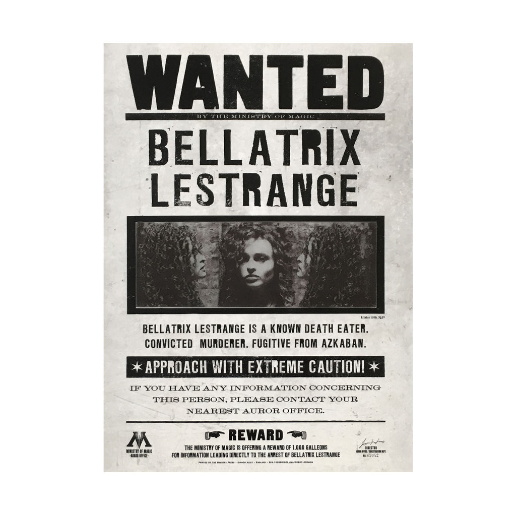 Bellatrix Lestrange Wanted Lenticular Notecard
