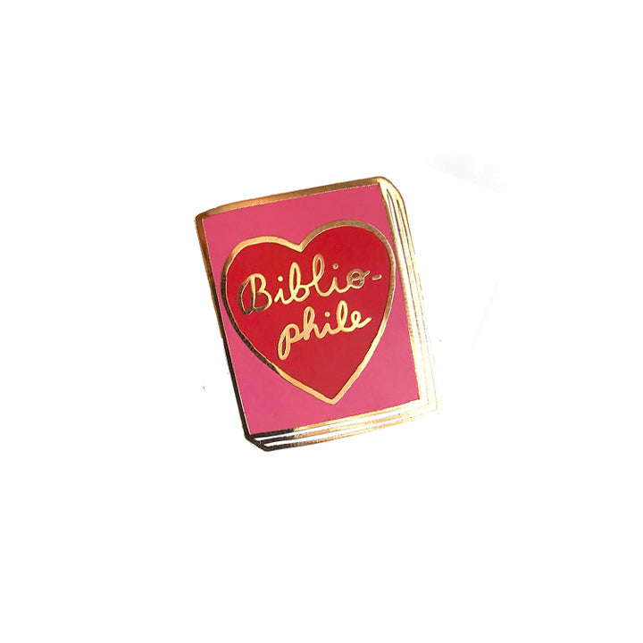 Book Pin - Bibliophile Red Heart