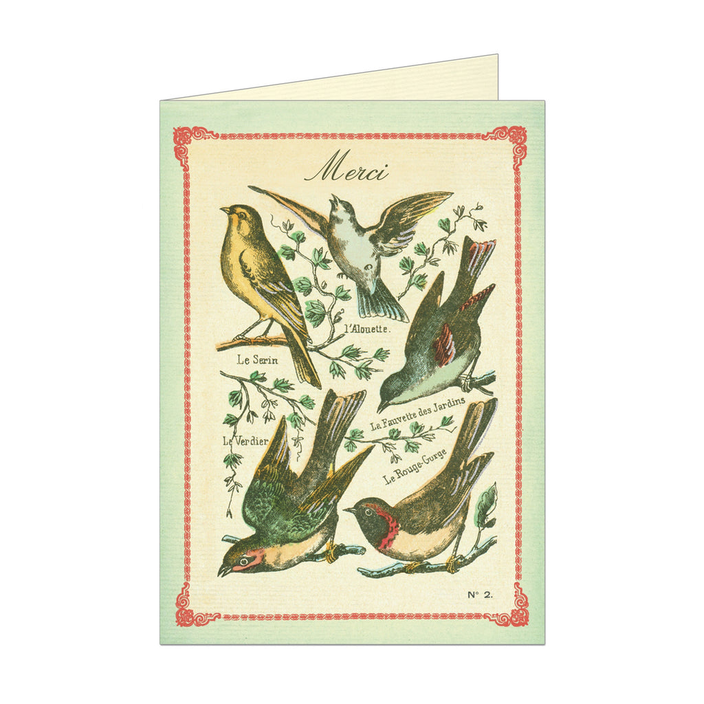Birds Merci Card