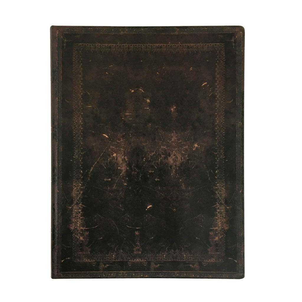 Black Moroccan Old Leather Flexible Ultra Journal