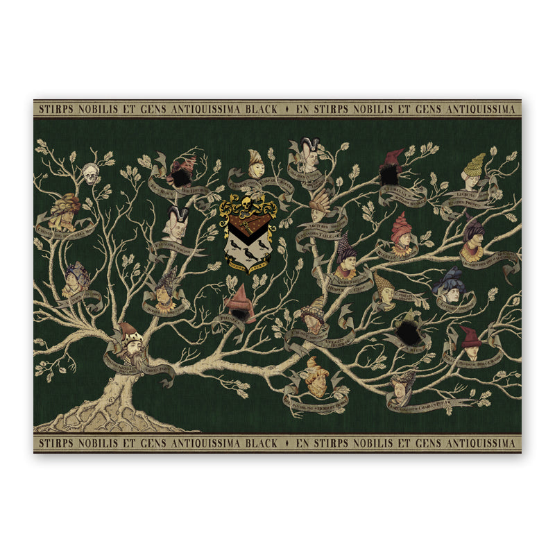 Black Family Tapestry Poster