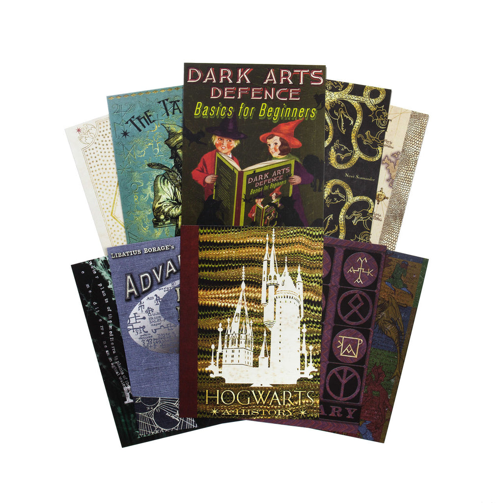 Book Covers from Hogwarts Postcards