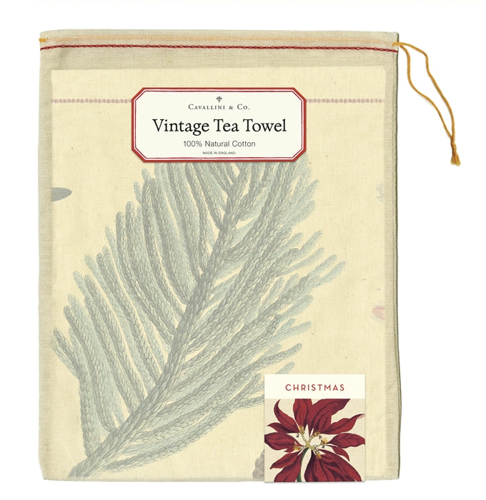 Christmas Botanica Tea Towel