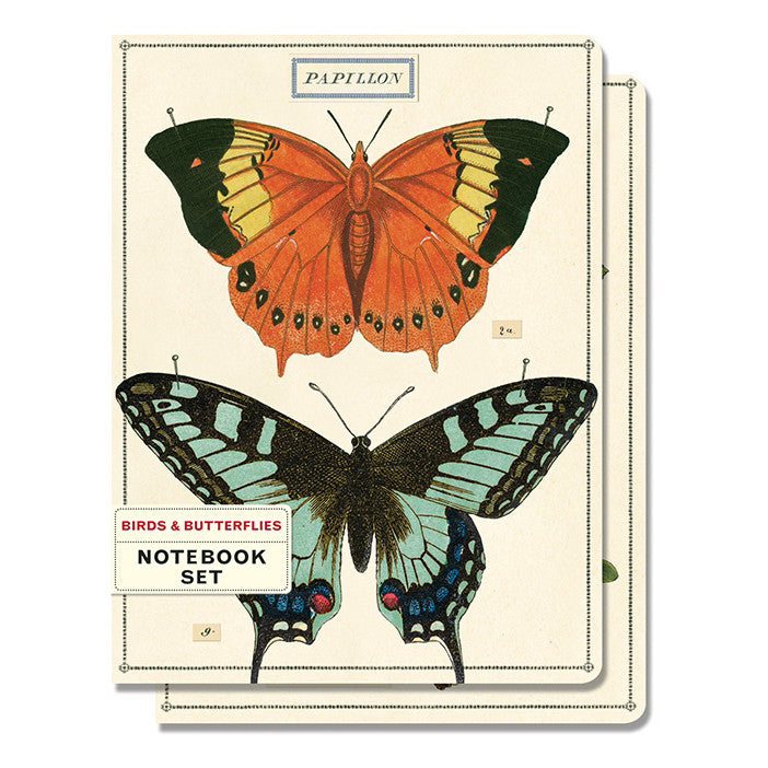 Notebook Set of 2 - Birds and Butterflies