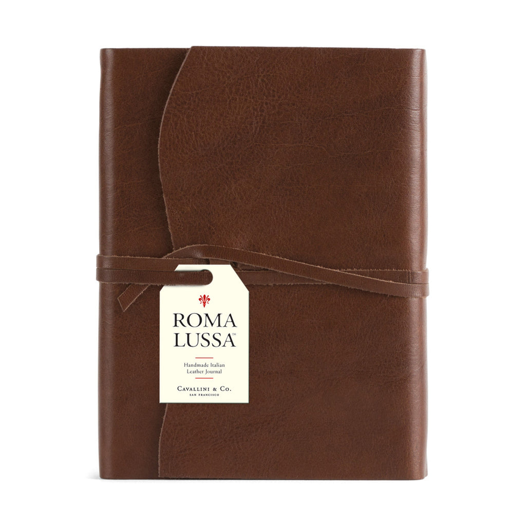 Roma Lussa Journal - Chocolate Leather 5x7""