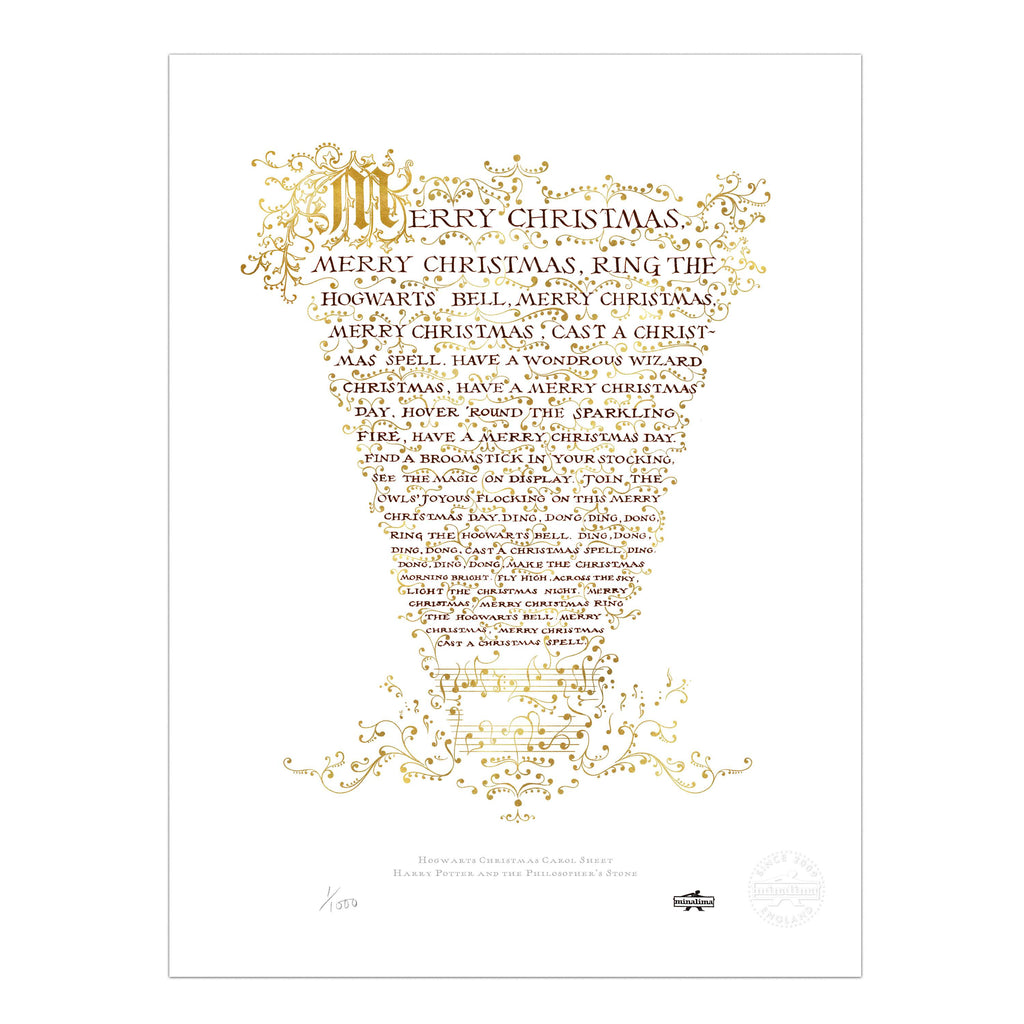 Hogwarts Christmas Carol Sheet