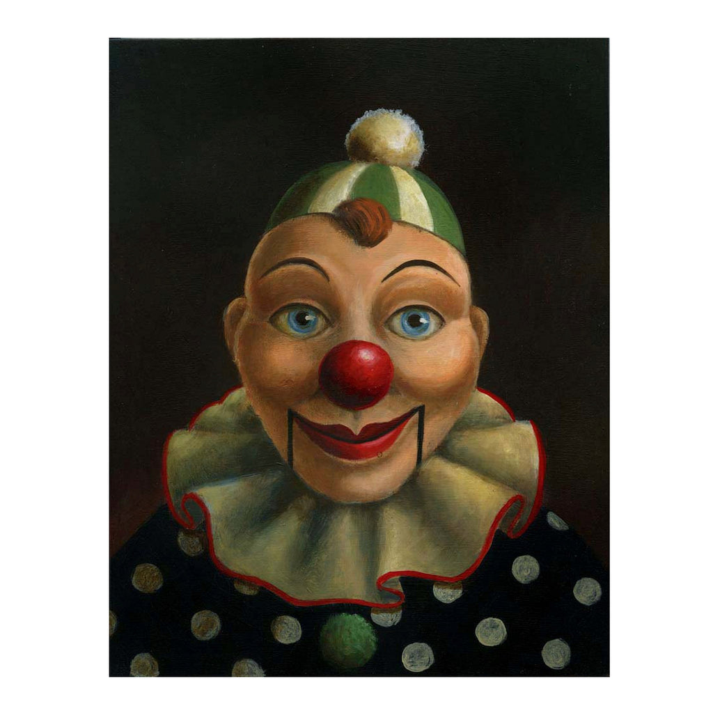 Curious Portraits - Clown Ventriloquist Dummy