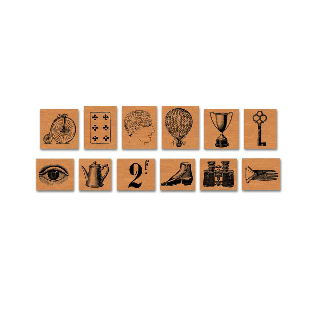 Curiosities Rubber Stamp Set