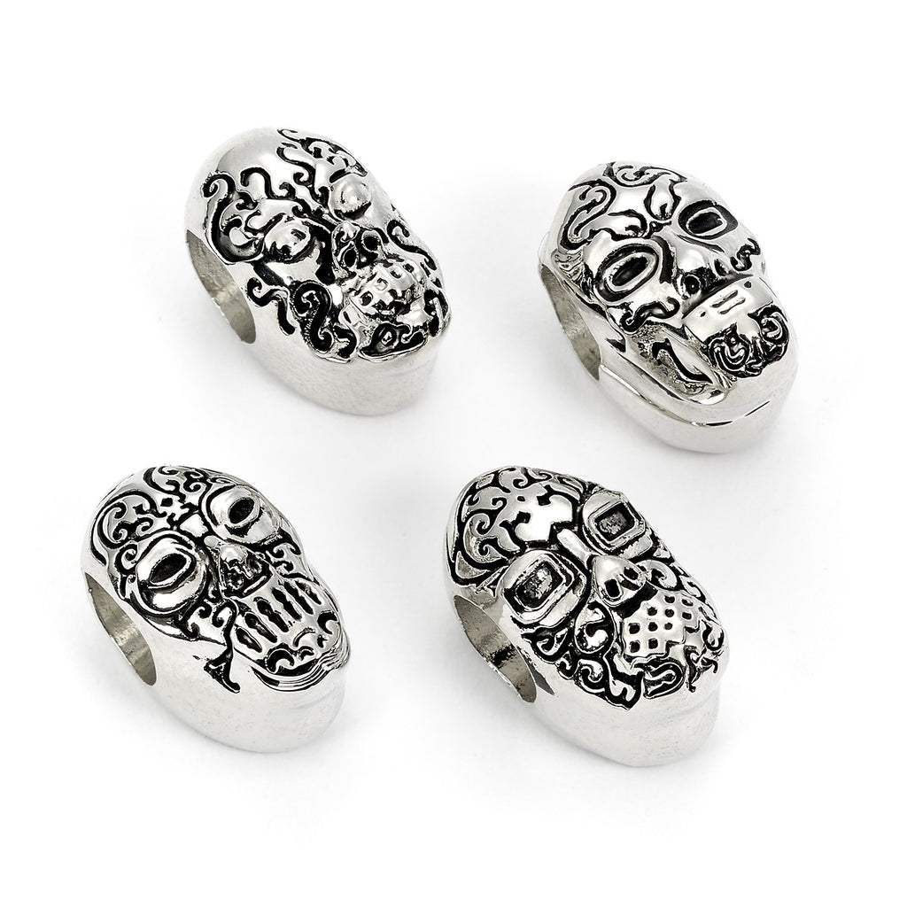 Death Eater Mask Beads, Set of 4