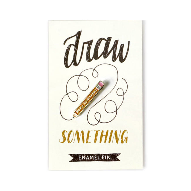 Draw Something Enamel Pin