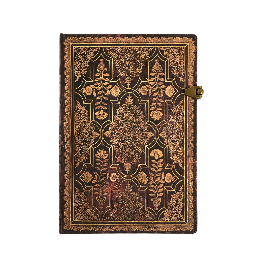 Mahogany Fall Filigree Midi Journal