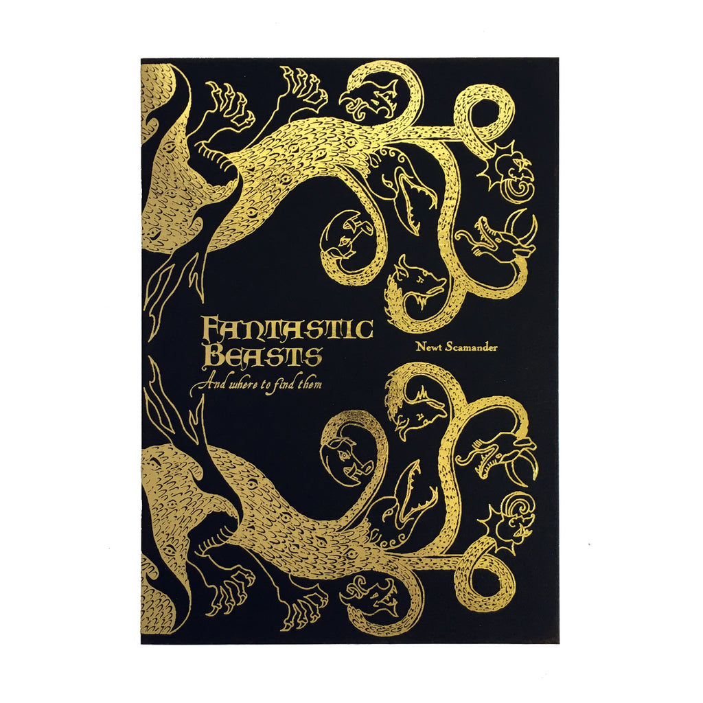 Fantastic Beasts and Where to Find Them Foiled Notecard