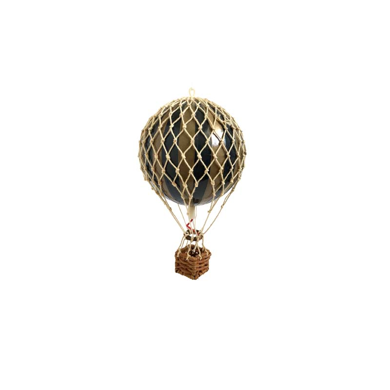 Floating The Skies Hot Air Balloon - Black & Gold