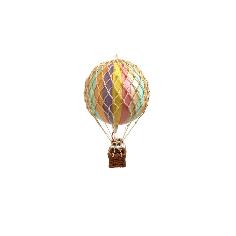 Floating The Skies Hot Air Balloon - Pastel Rainbow