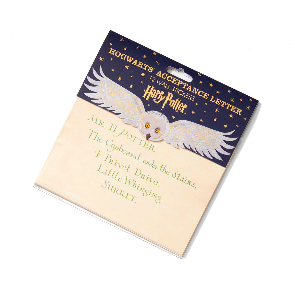 The Hogwarts Acceptance Letter - 12 Wall Stickers