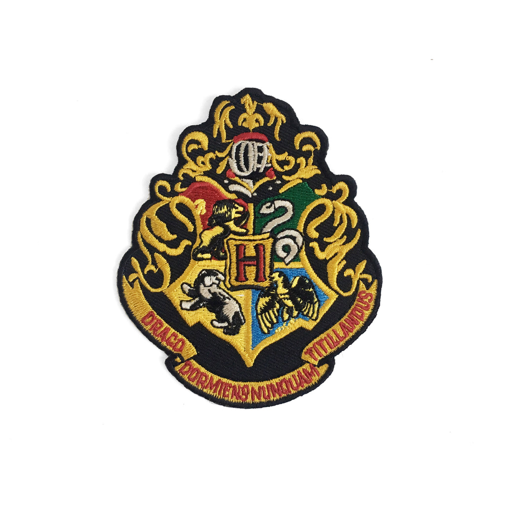 Hogwarts Crest Iron-On Patch