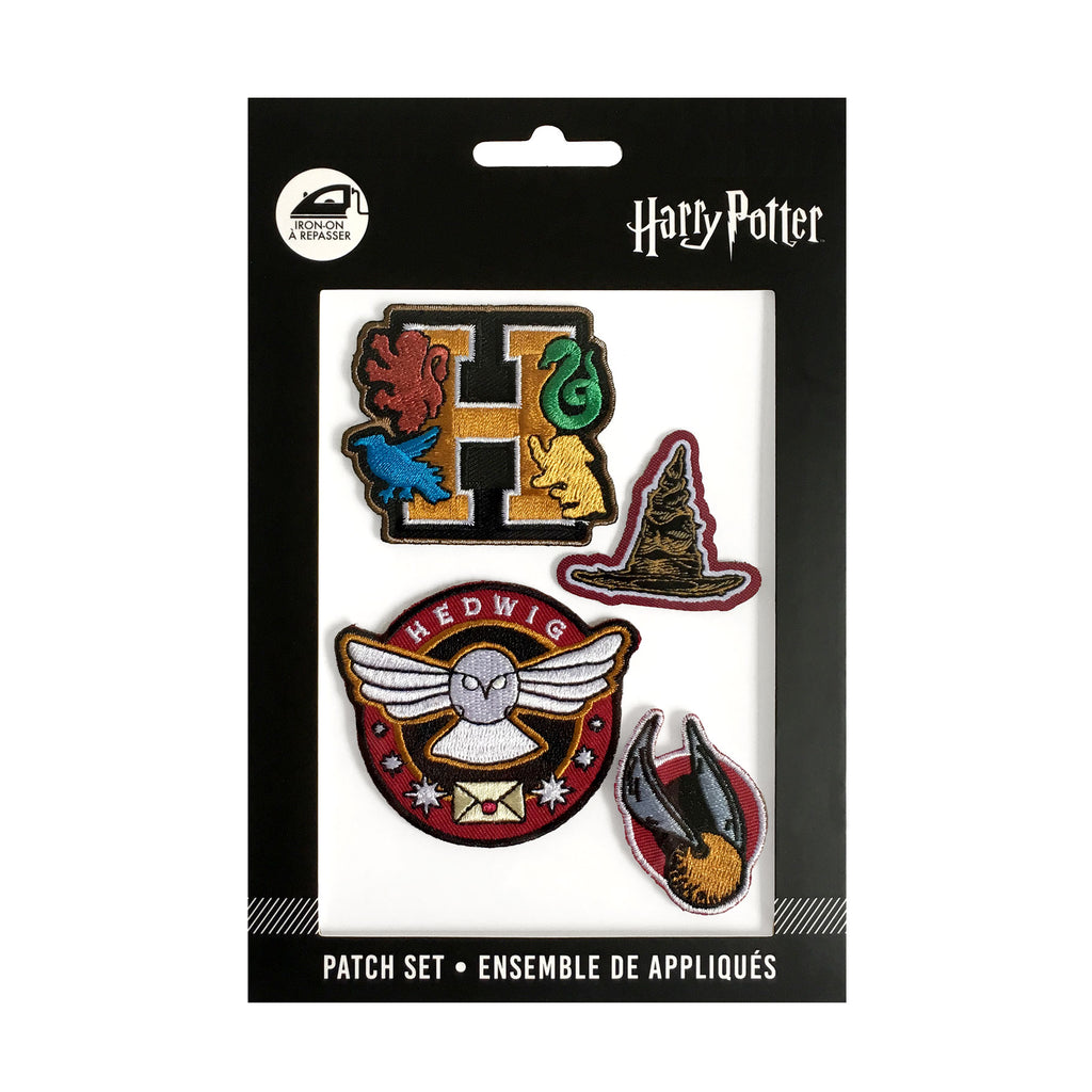 Hogwarts Iron-On Patch Set - 4 Pieces