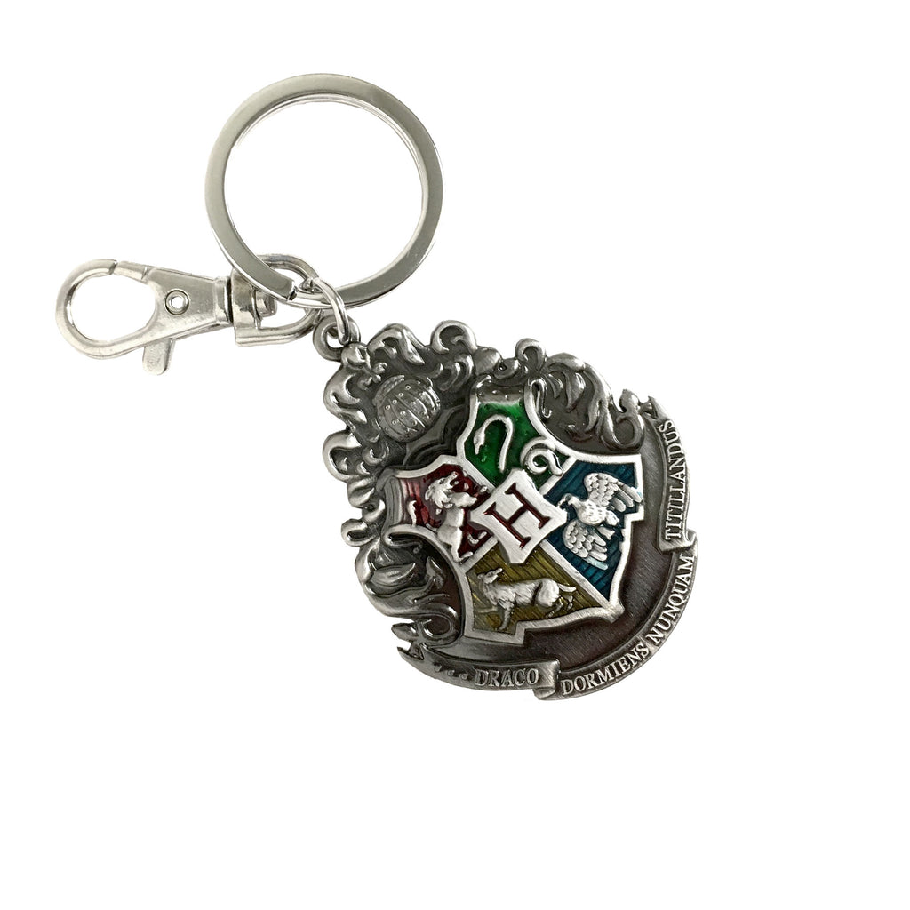 Pewter Key Ring - Hogwarts Crest