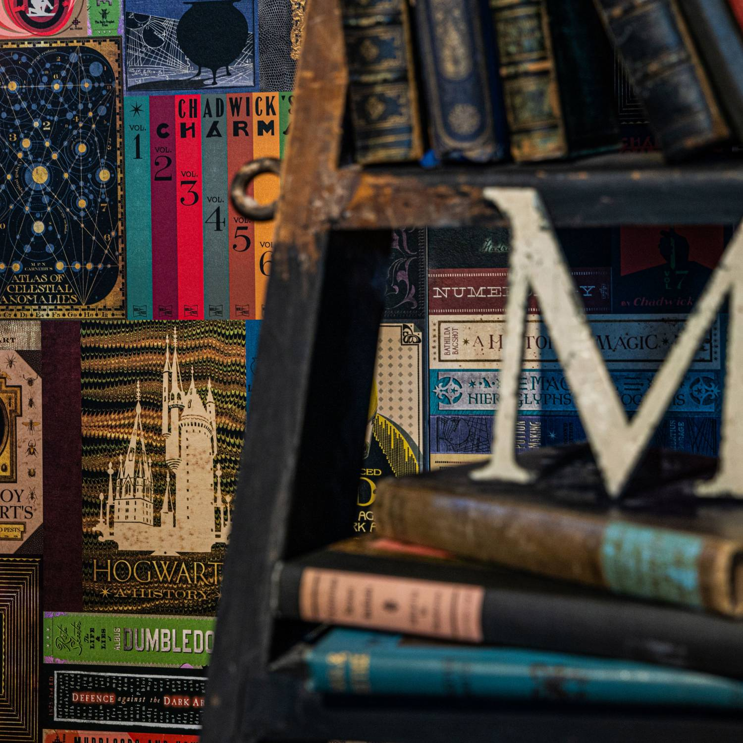 Hogwarts Library Book Covers Wallpaper Curiosa Purveyors