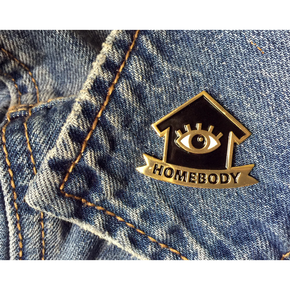 Homebody Enamel Pin