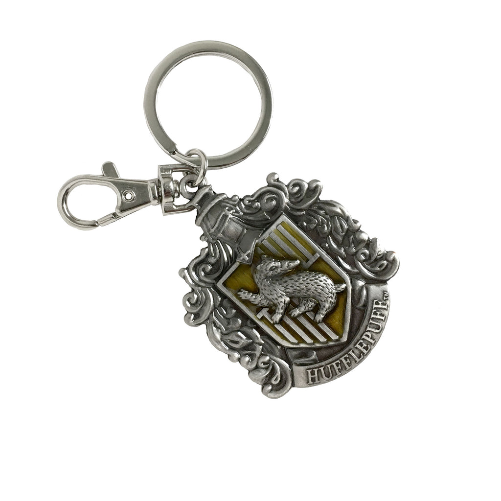 Pewter Key Ring - Hufflepuff Crest
