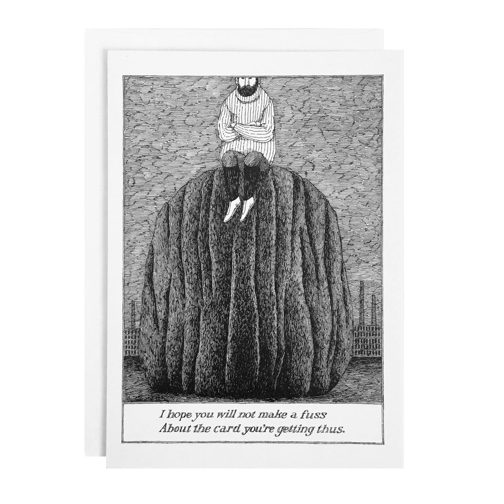 Edward Gorey Card - I hope you will not make a fuss