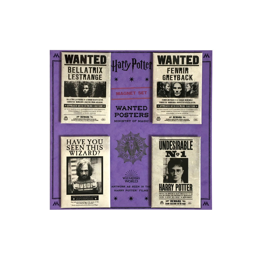 Wanted Poster Magnet Set