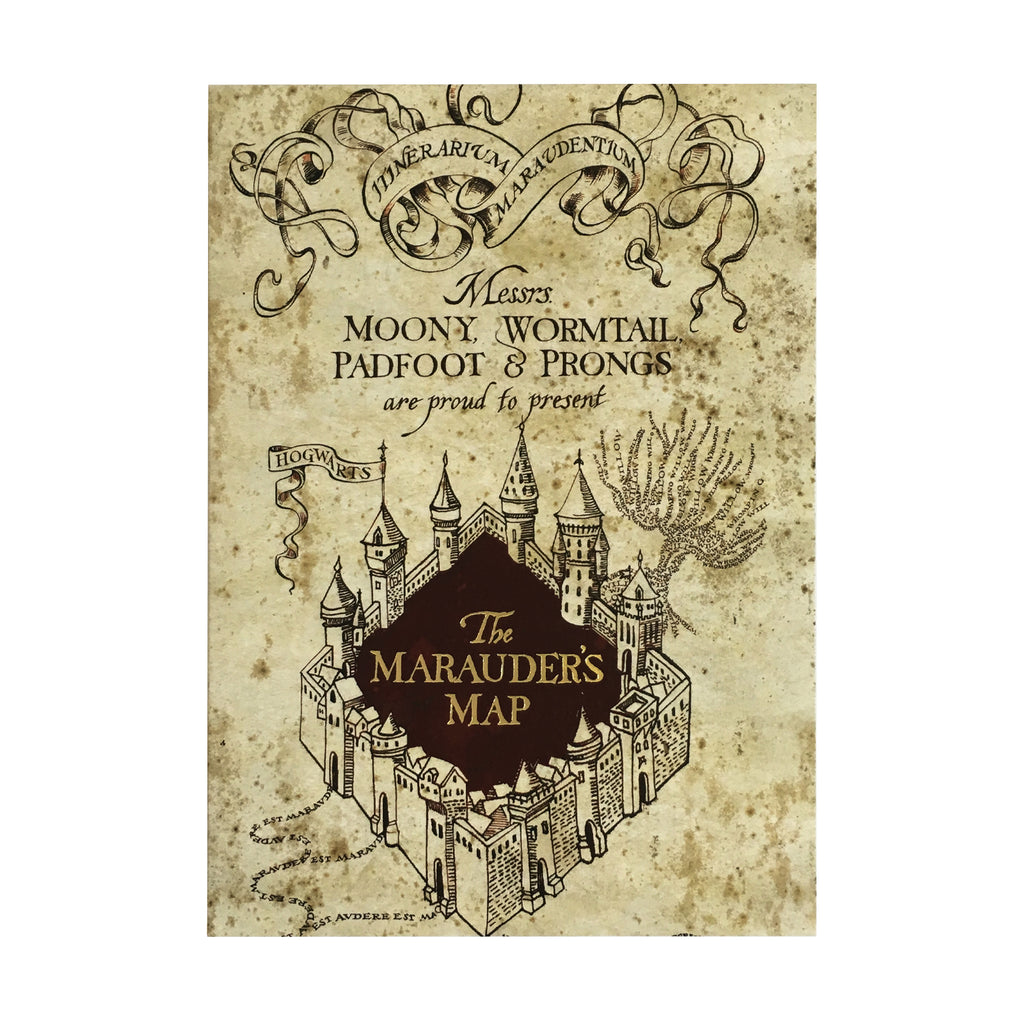 The Marauder's Map Notecard