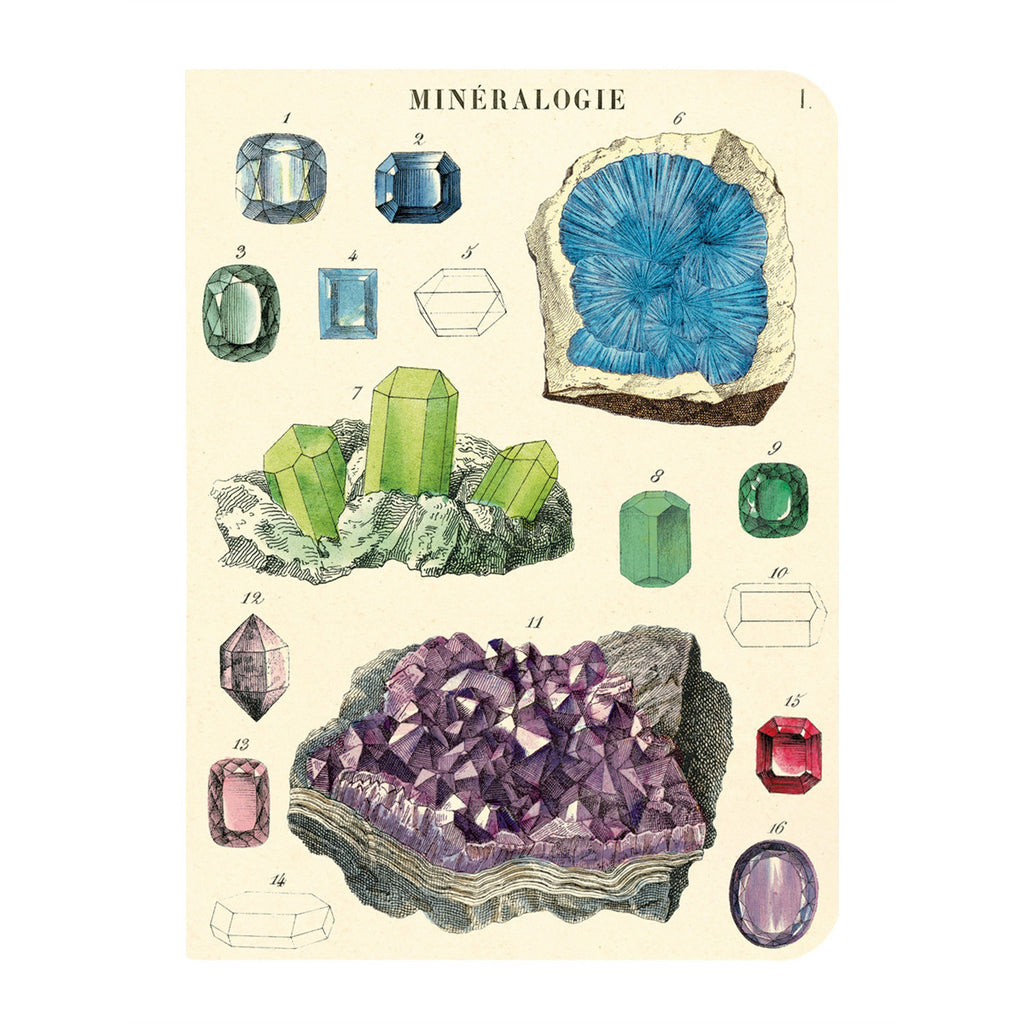 Mini Notebooks, set of 3 - Mineralogy