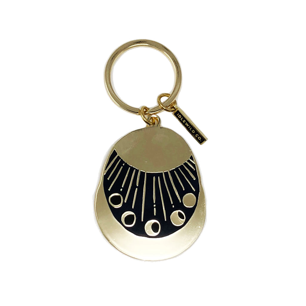 Moon Phases Key Ring