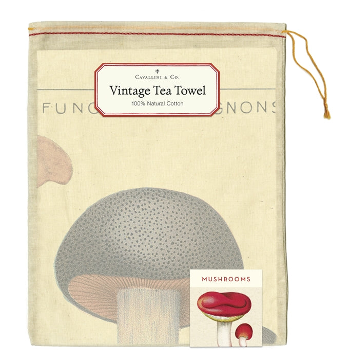 Mushrooms Tea Towel