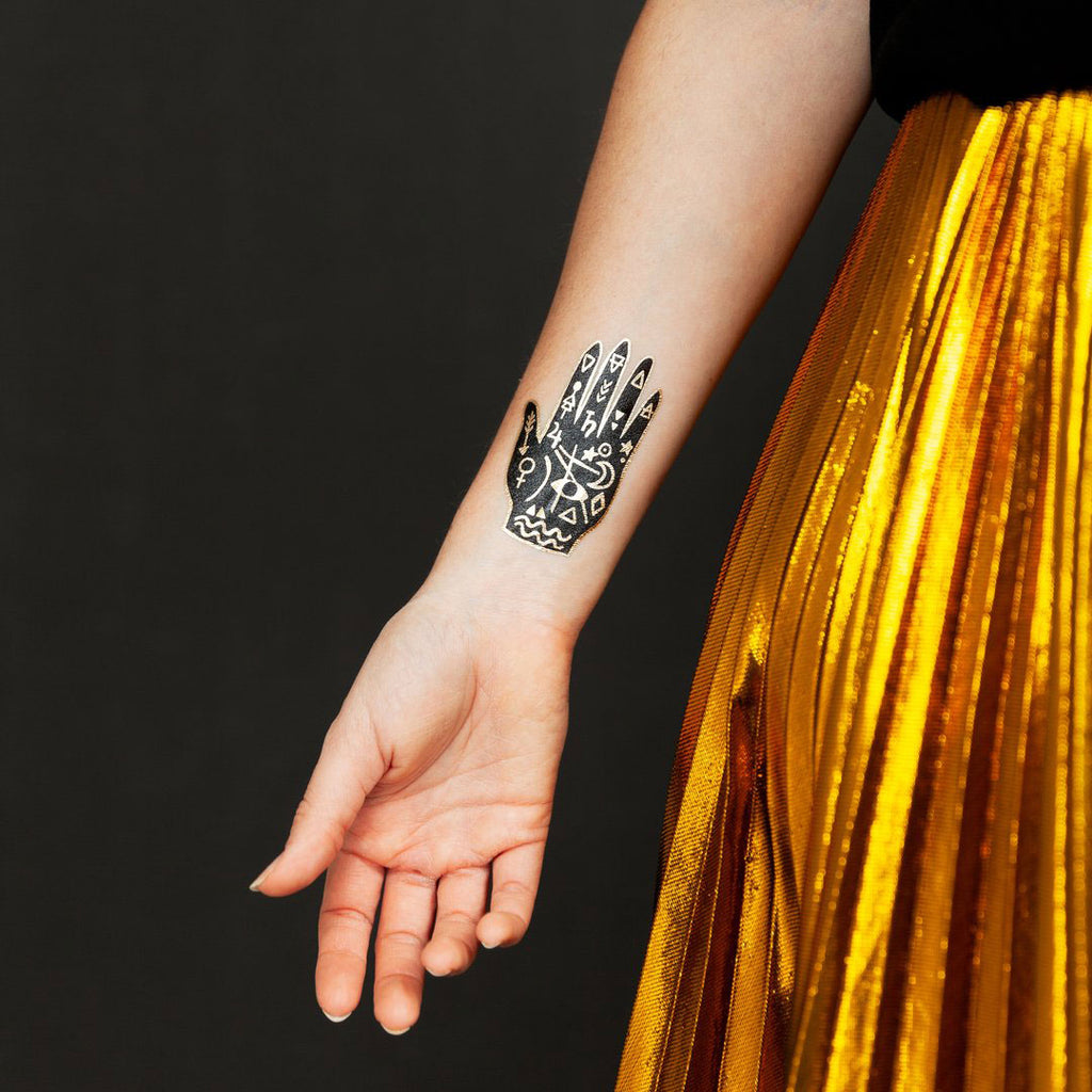 Mystic Hand Temporary Tattoos, set of 2