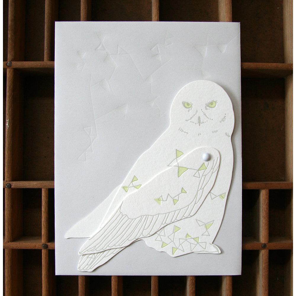 Letterpressed Moveable North Star Owl Card