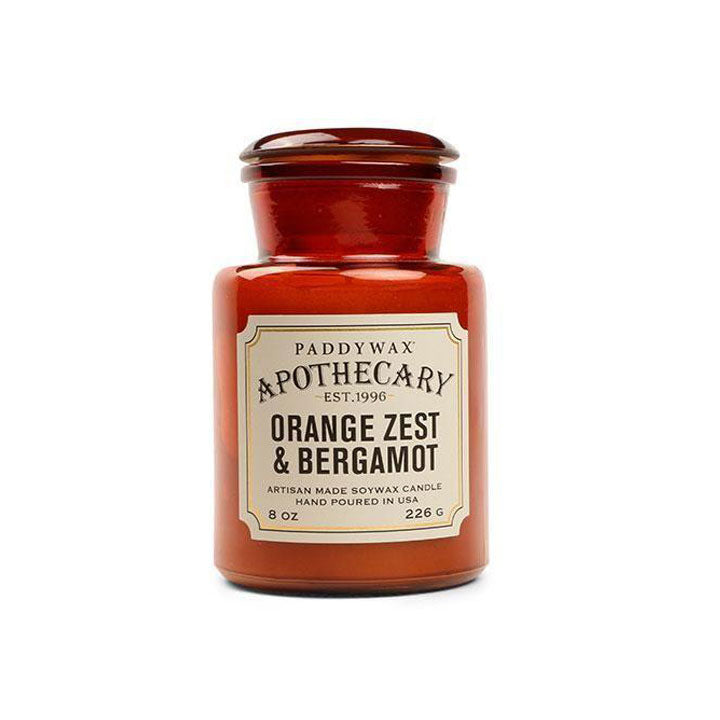 Apothecary Glass Candle - Orange Zest & Bergamot