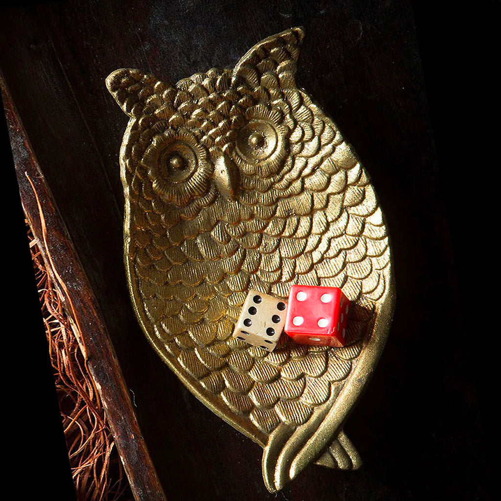 Gold Owl Ring Tray