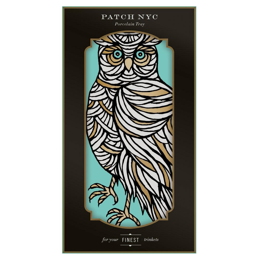 Patch NYC - Porcelain Owl Tray