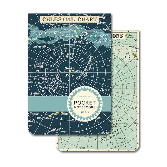 Pocket Notebooks, set of 2 - Celestial