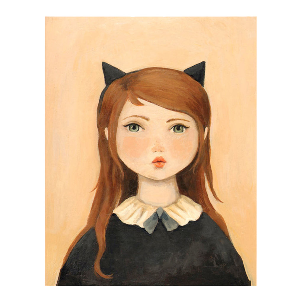 Emily Martin - Portrait with Cat Ears Print