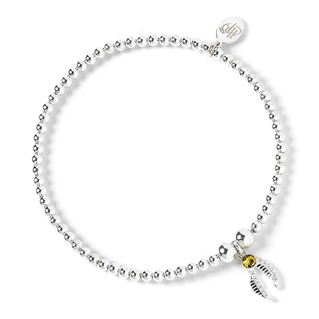 Swarovksi Golden Snitch Ball Bead Bracelet