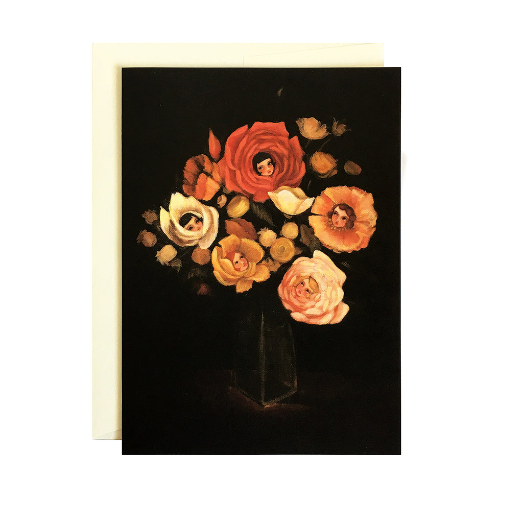 Emily Martin - Still Life with Flowers Card