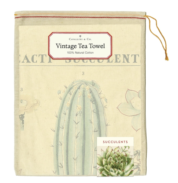 Cacti & Succulents Tea Towel