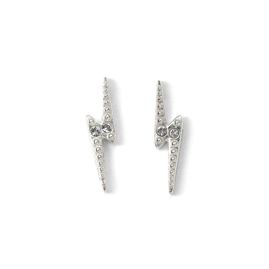 Swarovski Lightning Bolt Stud Earrings