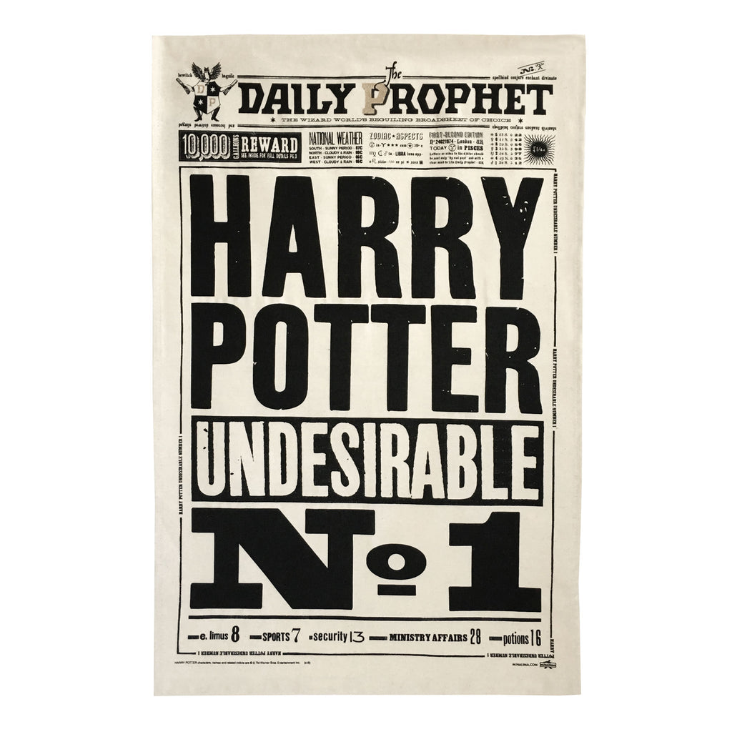 Harry Potter Undesirable No. 1 Tea Towel